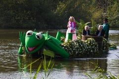 2011年浮动的花游行westland 免版税图库摄影