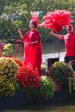 2011年浮动的花游行westland 免版税库存照片