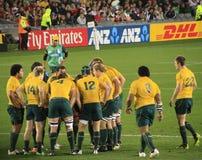 2011年澳洲杯子橄榄球与威尔士世界 免版税图库摄影