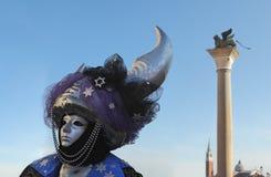 2011年狂欢节传统威尼斯式 图库摄影
