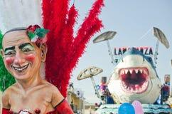 2011年狂欢节意大利viareggio 免版税库存照片