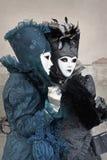 2011年狂欢节打扮了二名威尼斯妇女 免版税库存照片