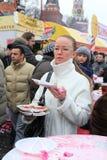 2011年狂欢节maslenitsa莫斯科俄语 图库摄影