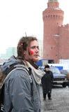 2011年狂欢节maslenitsa莫斯科俄语 库存图片