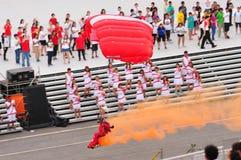 2011年登陆的狮子ndp飞将军红色 图库摄影