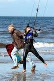 2011年艾尔节日风筝kiteival连续迎风 免版税库存图片