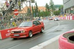 2011年赛跑街道verva的bmws 免版税库存图片