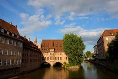 2011年都市德国纽伦堡的场面 免版税库存图片