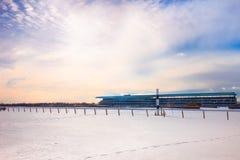 2011年belmont跑道冬天 库存照片