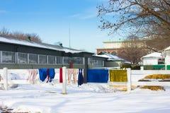 2011年belmont跑道冬天 库存图片