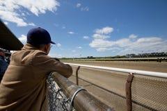 2011年Belmont Park跑道 库存照片