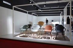2011年del公平的家具米兰移动电话salone 免版税库存图片