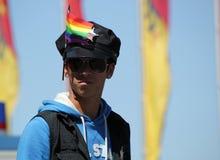 2011年gaypride日内瓦警察瑞士 免版税图库摄影