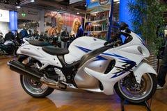 2011年hayabusa摩托车铃木 免版税库存照片