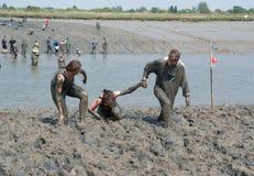 2011年maldon泥种族 库存照片