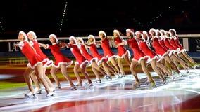 2011把证书刀片金黄光亮的冰鞋 免版税图库摄影