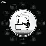 2011日历 免版税库存图片