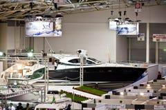 2011条大蓝色商展大厅罗马海运游艇 库存图片