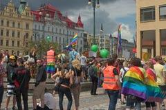 2011次游行布拉格自豪感 图库摄影