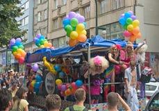 2011次游行布拉格自豪感 免版税库存照片