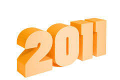 2011白色 免版税图库摄影