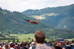 2011航空制空权奥地利显示zeltweg 库存照片