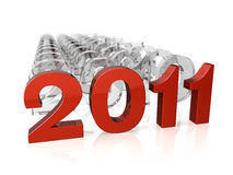 2011 łańcuch Zdjęcie Stock