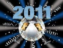 2011 świętowanie nowy rok Zdjęcia Stock