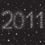 2011 αστέρια νυχτερινού ουρ&alph ελεύθερη απεικόνιση δικαιώματος
