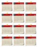 2011 ημερολογιακές σειρές Διανυσματική απεικόνιση