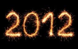 2011 που γίνεται sparkler Στοκ εικόνα με δικαίωμα ελεύθερης χρήσης