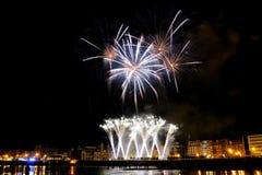 2011 πυροτεχνήματα San Sebastian Αυγού&si Στοκ Εικόνα