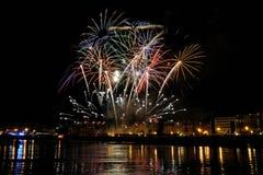 2011 πυροτεχνήματα San Sebastian Αυγού&si Στοκ φωτογραφία με δικαίωμα ελεύθερης χρήσης