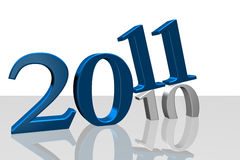 2011 τρισδιάστατο διανυσματική απεικόνιση