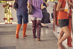2011 ботинок затопляют резиновый Таиланд Стоковое Фото