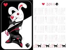 2011 встали на сторону двойное календара, котор Стоковое Изображение