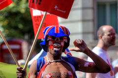 2011 голубых гордостей Великобритания парада manchester Стоковая Фотография RF
