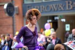2011 голубых гордостей Великобритания парада manchester Стоковое фото RF