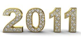 2011 диамант золотистый бесплатная иллюстрация