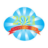 2011 счастливое Новый Год Стоковые Изображения