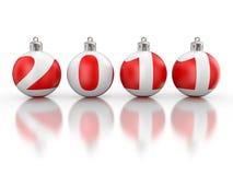 2011年圣诞节毛皮戏弄结构树 库存图片