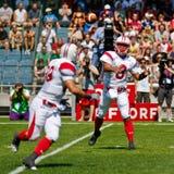 2011年奥地利橄榄球日本与wc 库存照片
