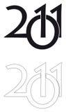 2011年徽标 免版税图库摄影