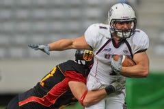 2011年橄榄球德国美国与wc 免版税库存图片