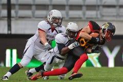 2011年橄榄球德国美国与wc 库存照片