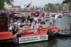 2011年运河同性恋游行自豪感 免版税库存图片