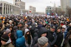 2011 12月24日莫斯科拒付 图库摄影