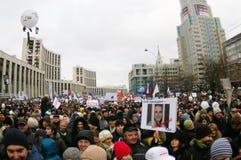 2011 12月24日莫斯科拒付 免版税库存照片