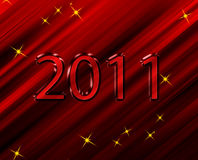 2011,. 2011 new year background red Stock Photography