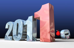 2011 2010 ersetzend Lizenzfreies Stockbild
